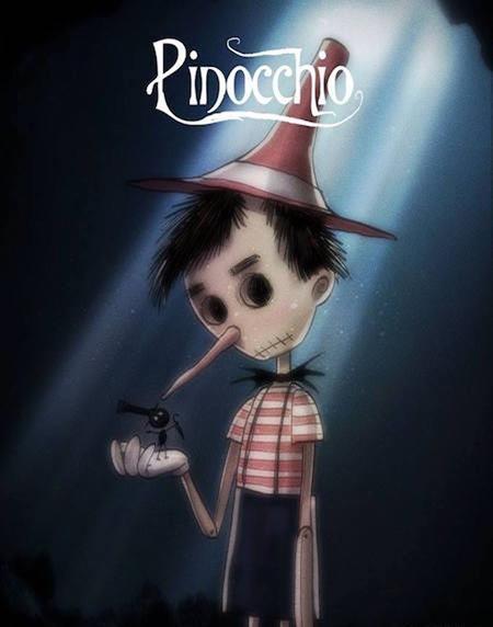 Pinocchio trông như một nhân vật trong phim kinh dị