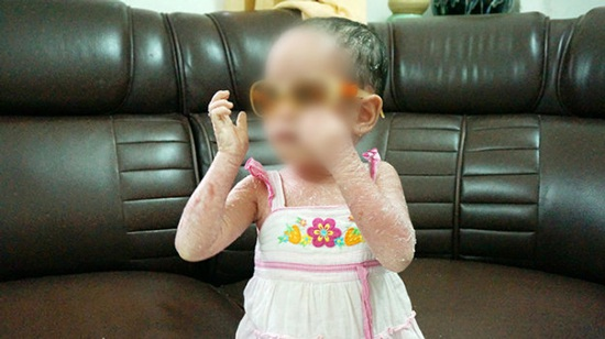 Bé M.A.T. lúc sinh nhật 2 tuổi - Ảnh gia đình cung cấp