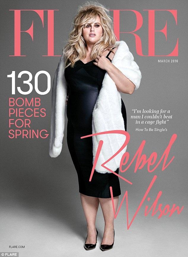 Rebel Wilson xinh đẹp trên tạp chí Flare số tháng 3/2016
