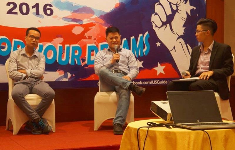 Chiến đấu vì giấc mơ và hòa mình vào cộng đồng là kinh nghiệm để học và hiểu về nước Mỹ nhanh nhất của anh Nguyễn Bá Trường Giang (giữa).