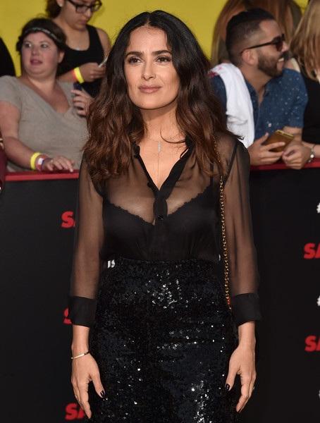Salma Hayek dự công chiếu phim Sausage Party tại nhà hát Regency Village ở Westwood, California, Mỹ ngày 9/8 vừa qua