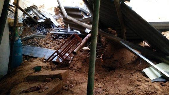 Hiện trường vụ sạt lở đất vùi lấp 2 vợ chồng.