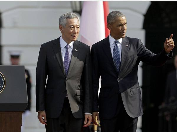 Thủ tướng Singapore Lý Hiển Long thăm chính thức Mỹ. (Ảnh: AFP)