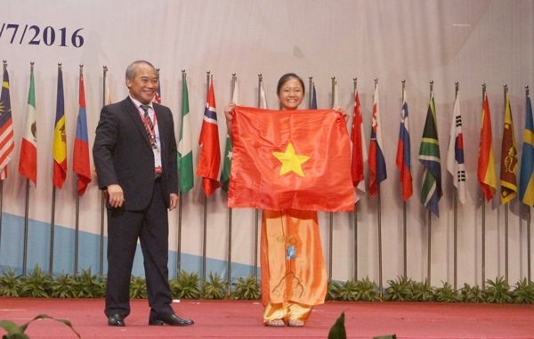 Vũ Thị Chinh đem về tấm HC Vàng thứ 2 trong lịch sử tham dự Olympic Sinh học quốc tế của đoàn Việt Nam.