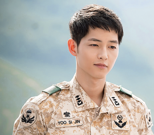 Tạo hình của Song Joong Ki trong bộ phim truyền hình Hậu duệ Mặt trời