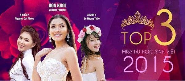 """""""Hương sắc Việt khắp năm châu hội tụ"""" qua Miss Du học sinh 2015."""