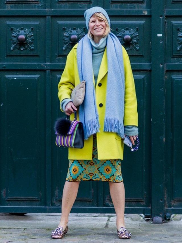 Kết hợp nhiều màu sắc để tạo ra trang phục color block