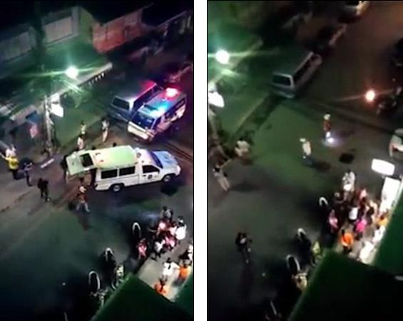 Khung cảnh hỗn loạn sau vụ nổ gần quán bar ở Hua Hin tối 11/8. (Ảnh: Twitter)