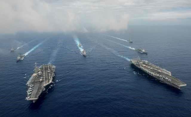 Hai cạm tàu sân bay của Mỹ. (Ảnh: Reuters)