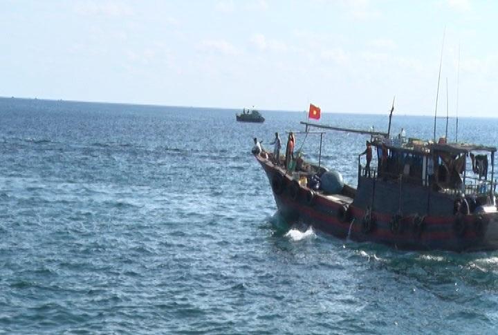 Nhiều tàu đánh cá của ngư dân được huy động tham gia hỗ trợ tìm kiếm máy bay CASA-212.