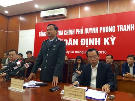 Tại buổi tiếp dân dịp cuối năm 2015, Tổng Thanh tra Chính phủ Huỳnh Phong Tranh đã giải quyết dứt điểm vụ việc khiếu kiện kéo dài 17 năm ở quận Tây Hồ, Hà Nội (Ảnh: Thế Kha).