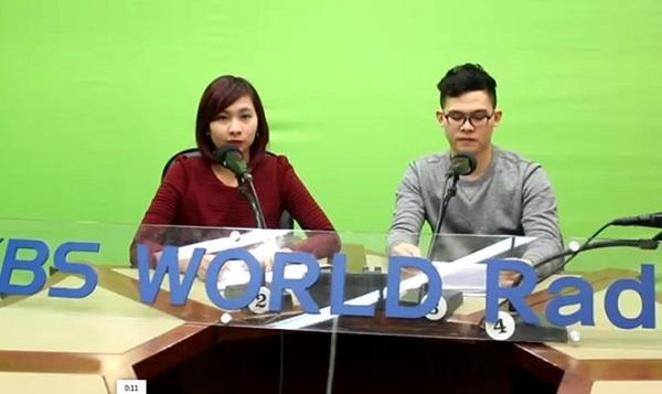 Thanh Nga và bạn dẫn tại đài KBS