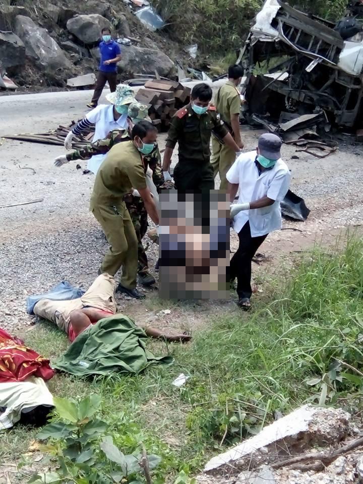 Vụ nổ xe khách 8 người chết: Có xác pháo ở hiện trường? - 4