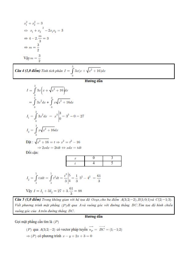 Đề thi và gợi ý đáp án chi tiết môn Toán kỳ thi THPTQG 2016 - 4