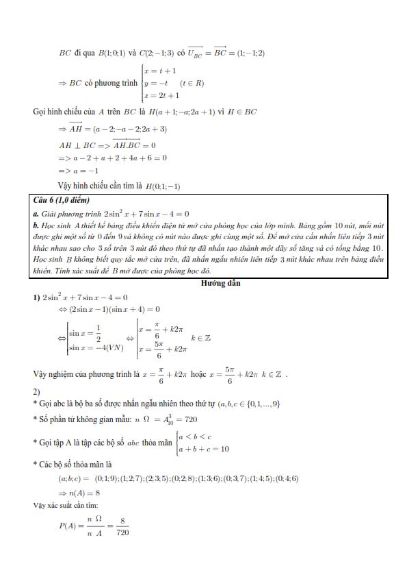 Đề thi và gợi ý đáp án chi tiết môn Toán kỳ thi THPTQG 2016 - 5