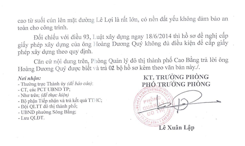Phòng quản lý đô thị TP Cao Bằng cùng nhiều Sở ngành họp thống nhất bác bỏ đơn xin cấp phép xây chuồng gà của nhà văn Hoàng Quảng Uyên.