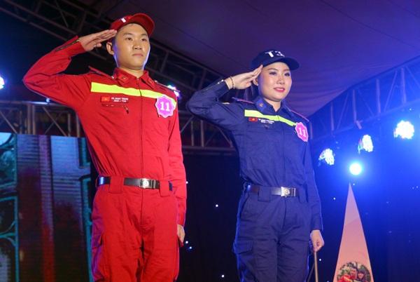 Đến từ cơ sở 3 Đồng Nai xa xôi, Lê Minh Phương và Hà Ngọc Trung luôn thể hiện nét tự tin khi trình diễn