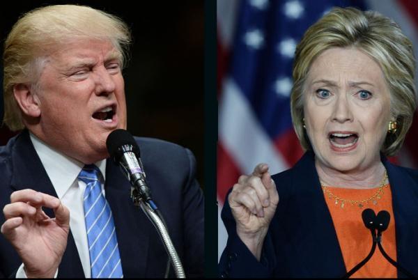 Ứng viên tổng thống đại diện đảng Cộng hòa Donald Trump (trái) và ứng viên Dân chủ Hillary Clinton. (Ảnh: Getty)