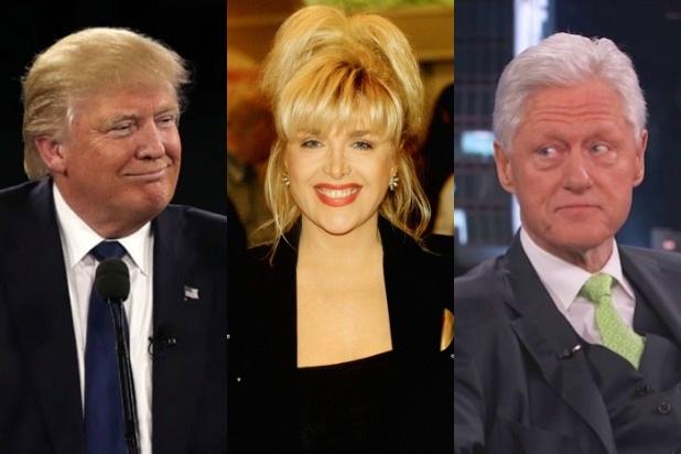 Gennifer Flowers (giữa) - người tình cũ của cựu Tổng thống Mỹ Bill Clinton. (Ảnh: Getty)