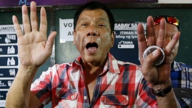 Tổng thống vừa đắc cử của Philippines, ông Rodrigo Duterte. (Ảnh: AP)