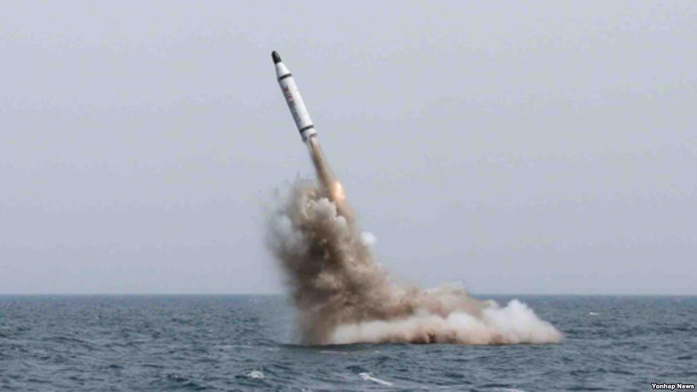 Triều Tiên từng tuyên bố phóng thành công tên lửa từ tàu ngầm. (Ảnh: Yonhap)