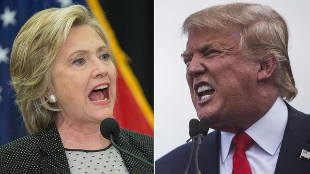 Ứng viên tổng thống đảng Dân chủ Hillary Clinton (trái) và ứng viên đảng Cộng hòa Donald Trump. (Ảnh: Getty)