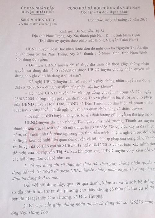 """Hà Nội: Ai """"phù phép"""" cho những tấm sổ đỏ được cấp trên """"đất ma"""" tại huyện Hoài Đức? - 4"""