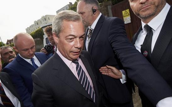 Ông Nigel Farage, Chủ tịch đảng Độc lập Anh (UKIP). (Ảnh: AFP)