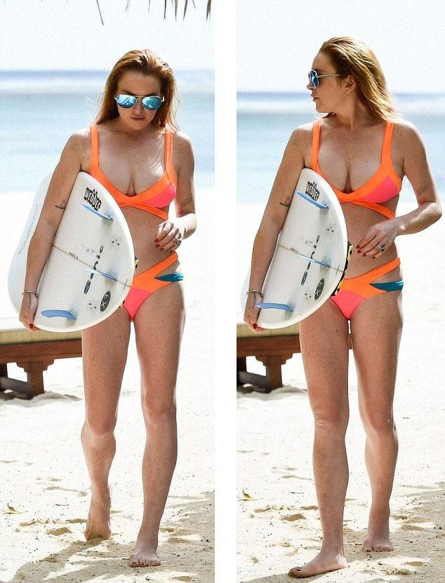Lindsay nổi tiếng với một làn da với những vết tàn nhan khắp người.