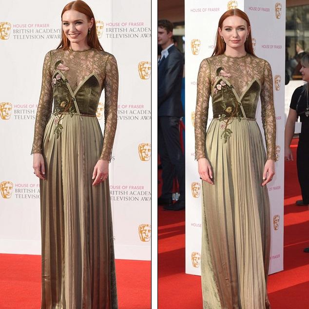 Eleanor Tomlinson - họa tiết hoa thêu không liên quan tới bộ váy!