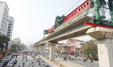 Tuyến đường sắt trên cao Cát Linh - Hà Đông. Ảnh: Hồng Vĩnh.