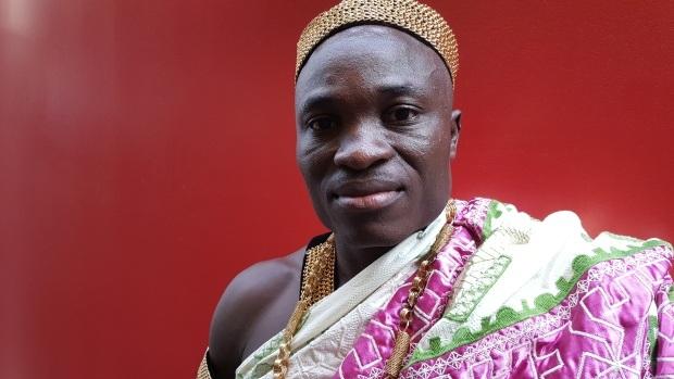 Eric Manu - Vua bộ tộc Akan ở Ghana. (Ảnh: CTV)