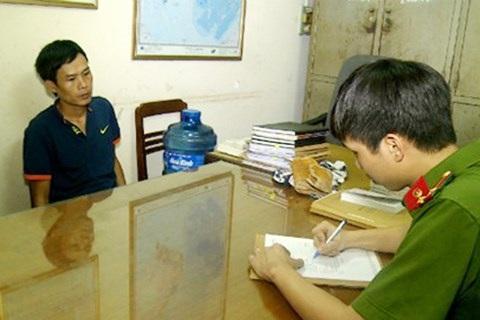 Phạm Văn Tuân tại cơ quan công an