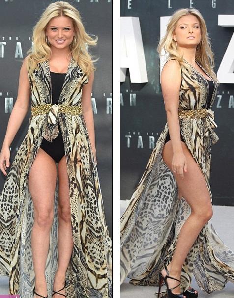 Zara Holland gần đây mặc rất bạo dù trước đó cô khóc lóc nhiều vì mất vương miện hoa hậu