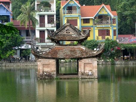 ... một nét cổ kính giữa kiến trúc hiện đại của cảnh quan xung quanh.
