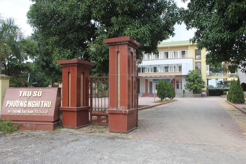 Phường Nghi Thu, nơi ông Phùng Đức Nhân giữ cương vị Bí thư Đảng ủy trong suốt 20 tháng trước khi được bổ nhiệm là Trưởng phòng GD-ĐT thị xã Cửa Lò.