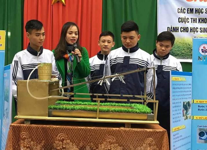 Công trình sân thượng thông minh của nhóm tác giả Trường THPT Nguyễn Trường Tộ.