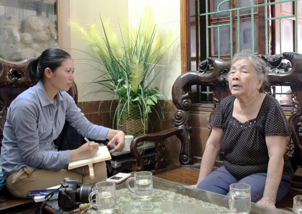 Bà Nguyễn Thị Toàn - vợ ông Nguyễn Công Phi chia sẻ với PV Dân trí.