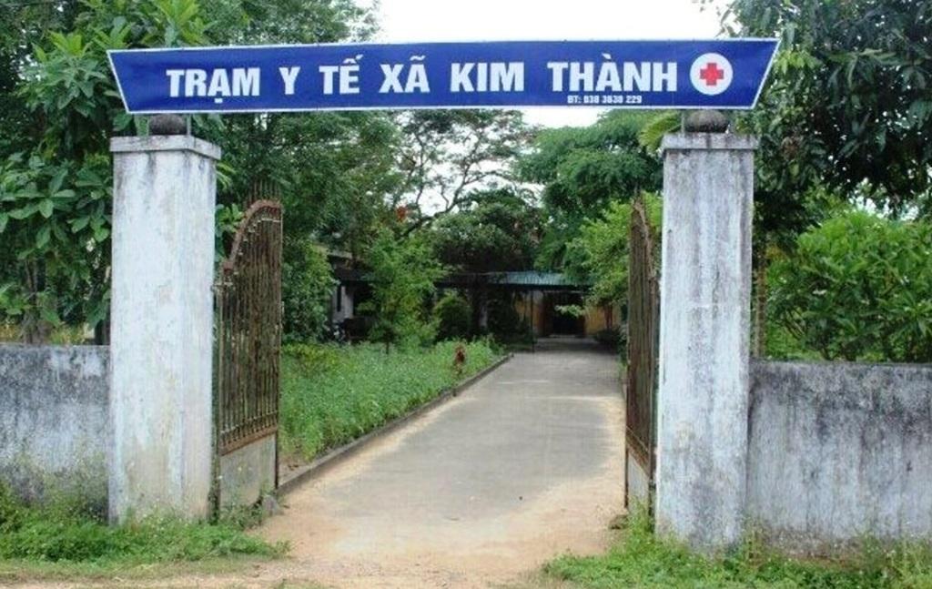 Trạm y tế xã Kim Thành - nơi xảy ra sự việc.