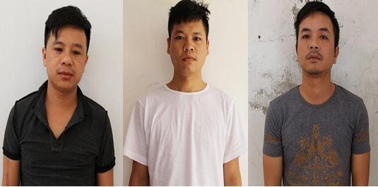 3 đối tượng liên quan đến vụ nổ súng tại quán cà phê tối 26/8 khiến anh Hưng bị thương vào đầu.