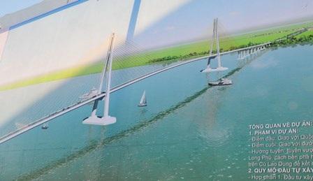 Câycầu Đại Ngãi nối liền 2 tỉnh Sóc Trăng và Trà Vinh