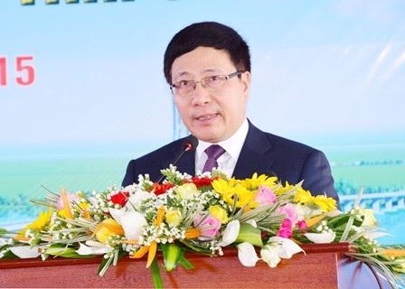 Phó Thủ tướng Phạm Bình Minh phát biểu chỉ đạo tại buổi lễ