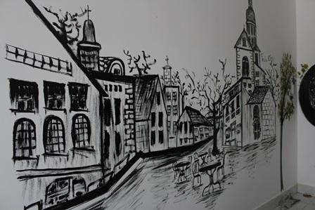 Một số tác phẩm vẽ trên tường độc đáo của Trúc Chi
