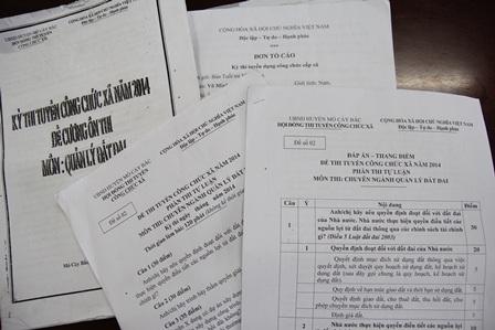 Ông H. tố cáo việc mua bán đề thi công chức tại huyện Mỏ Cày Bắc