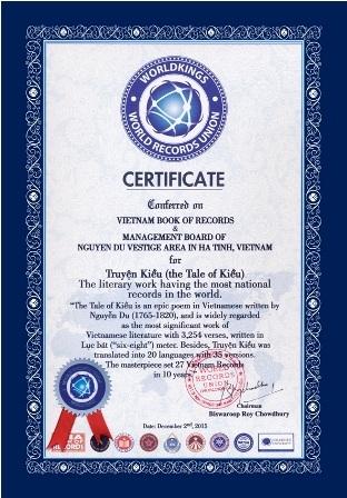 Truyện Kiều của Nguyễn Du xác lập Kỷ lục Thế giới - 1
