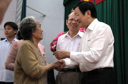 Chủ tịch nước vui mừng trước những góp ý tâm huyết, sâu sắc của bà con cử tri.