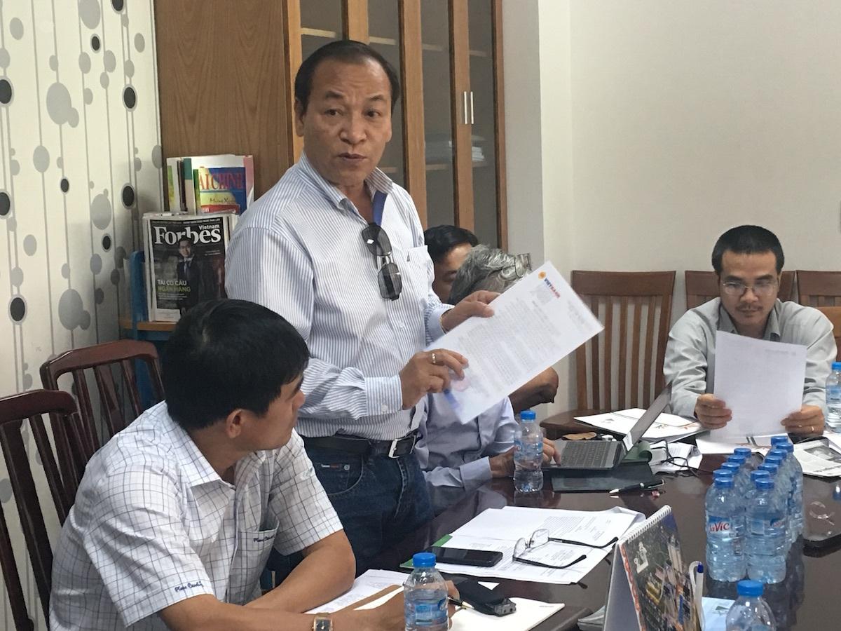 Trình chứng thư bảo lãnh ngân hàng, lãnh đạo công ty Gia Hòa cho rằng việc quy về một rổ các dự án cầm cố sẽ khiến thị trường chững lại
