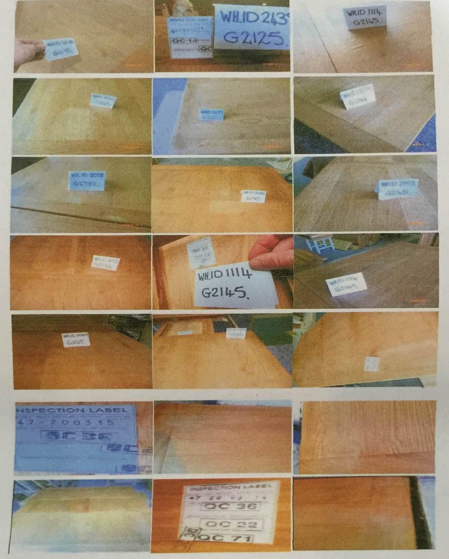 Cac mẫu gỗ mà 2 bên thực hiện theo hợp đồng
