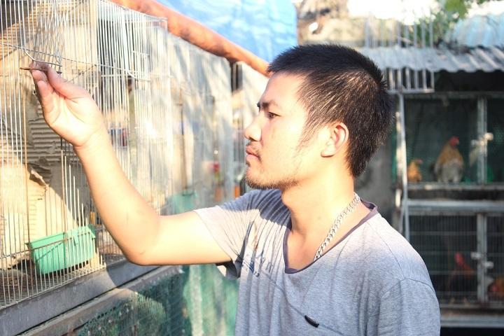 Anh Nguyễn Quang Nam - người được mệnh danh là Vua gà Tân Châu ở Hà Nội khi sở hữu những con gà cảnh độc, lạ