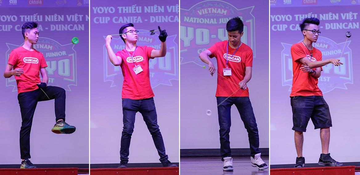 Giải đấu YOYO thiếu niên Việt Nam cup CANIFA – DUNCAN, lần đầu tiên được tổ chức, dành riêng cho các bạn nhỏ từ 6 – 15 tuổi, đang theo học tại các trường tiểu học và trung học trên toàn quốc. Mở đầu cuộc thi, các masters YOYO Duncan 2 miền Nam – Bắc trình diễn các động tác YoYo đẹp mắt, phô diễn các kỹ thuật tương đối phức tạp của bộ môn thể thao này